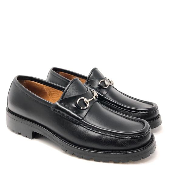 b4a57842948 Gucci Shoes - Gucci Women s US 7.5 Black Loafer Silver Horsebit